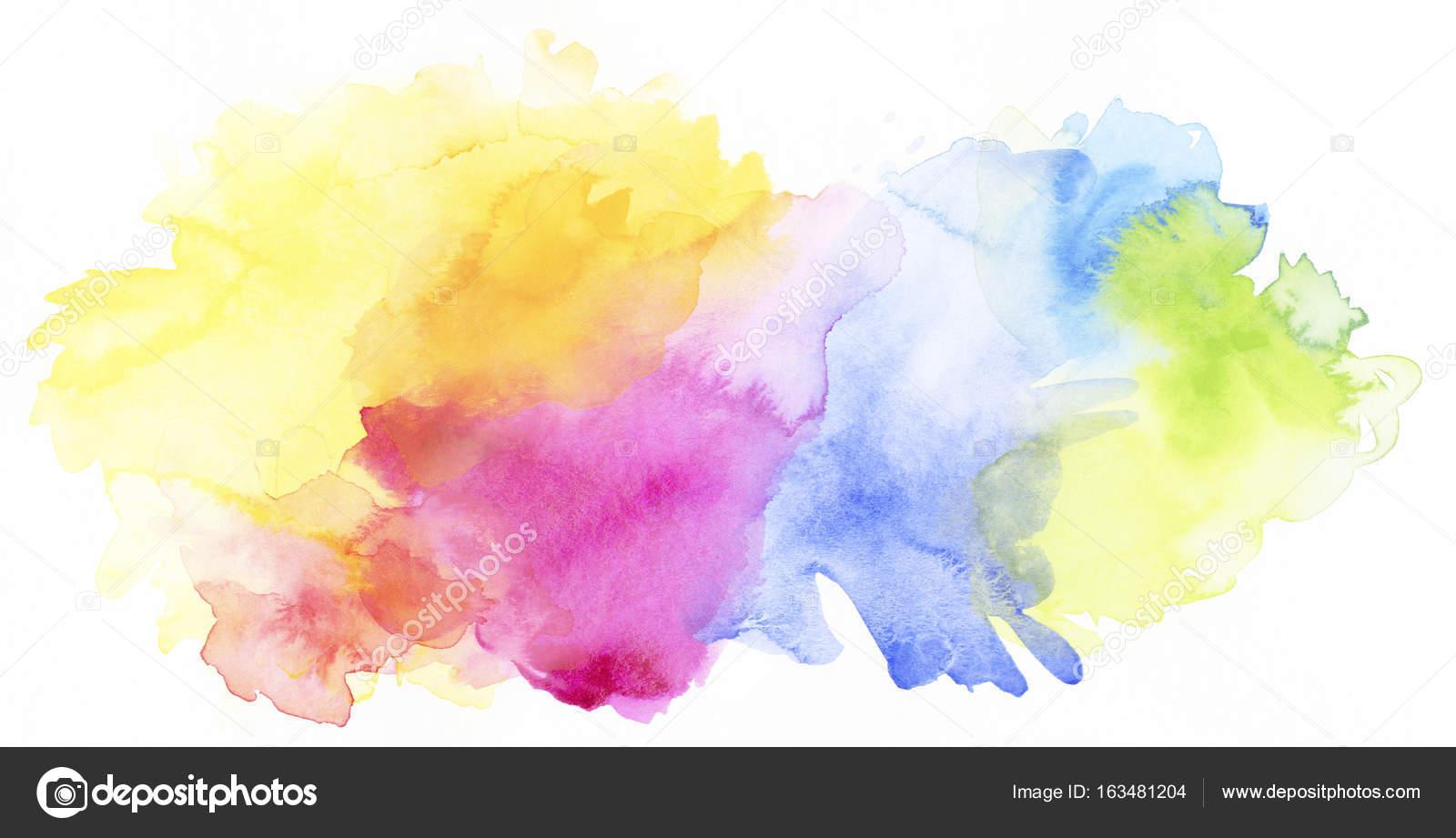 Texturas De Colores Pastel: Arco-íris Pastel Colorido Tintas Aquarela E Texturas Em