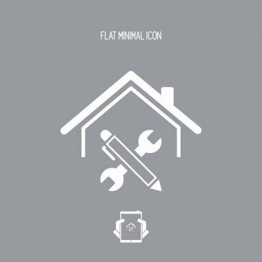 House renovation - Vector web icon