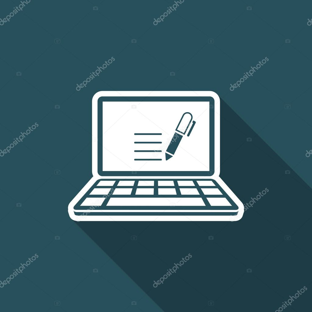 Writing application - Vector web icon