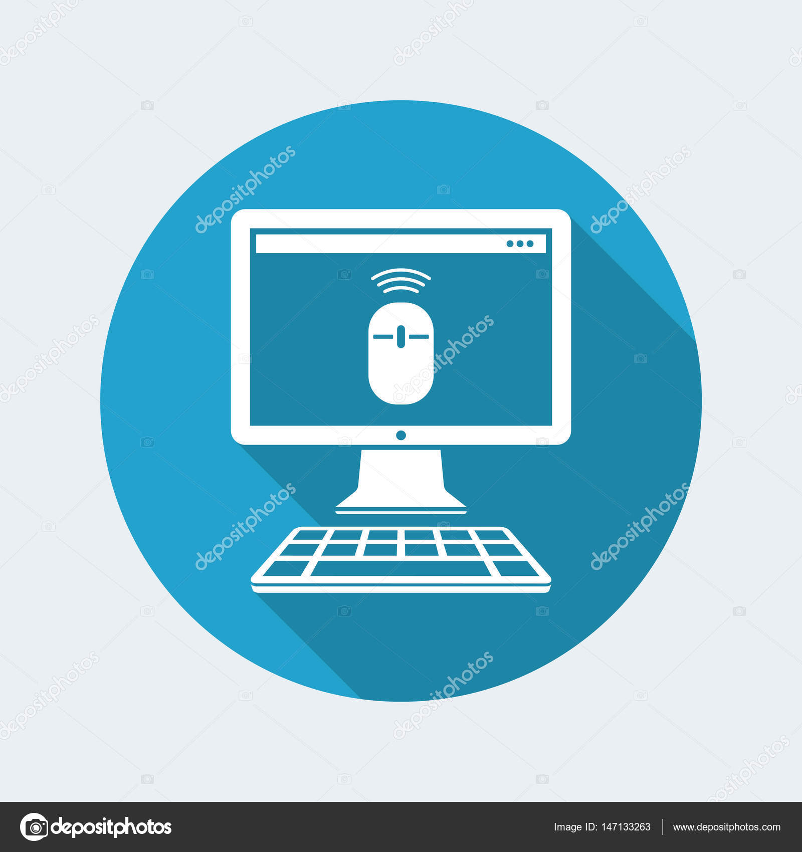 Wireless mouse icon — Stock Vector © MyVector #147133263