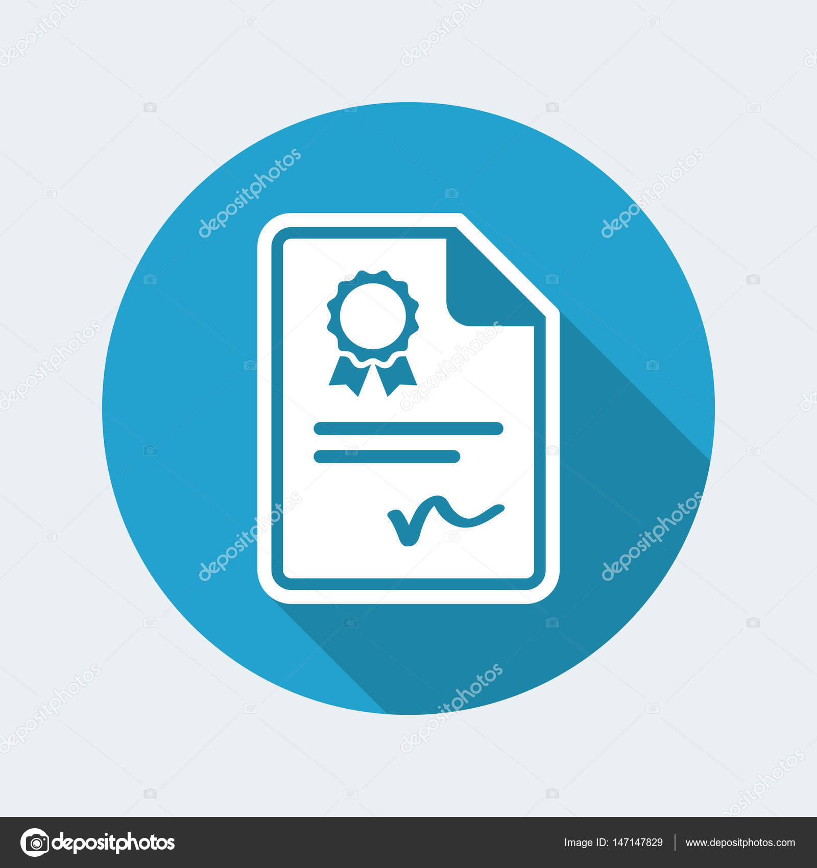 Certificated Document Icon Stock Vector Myvector 147147829