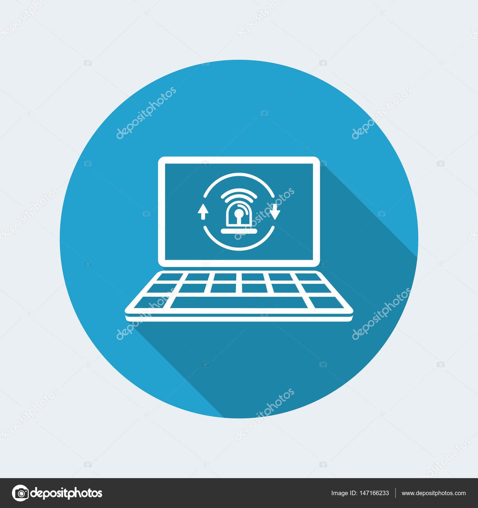computer security alarm icon stock vector a myvector 147166233