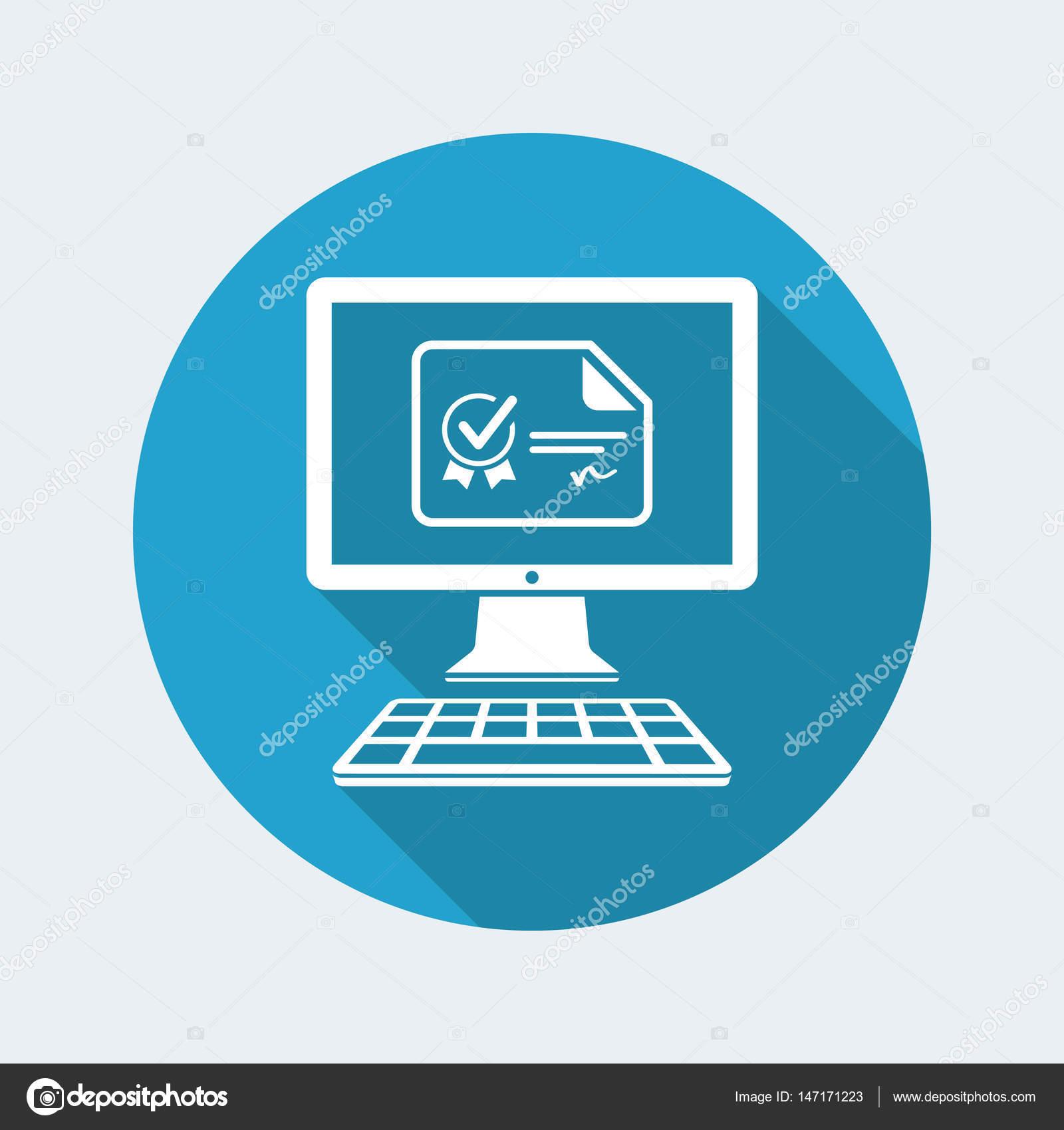Online Certification Icon Stock Vector Myvector 147171223