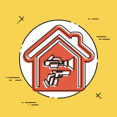 Home robbery illustration