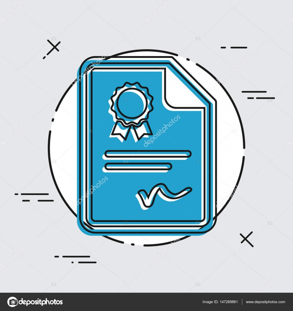Certificated Document Icon Stock Vector Myvector 147269861