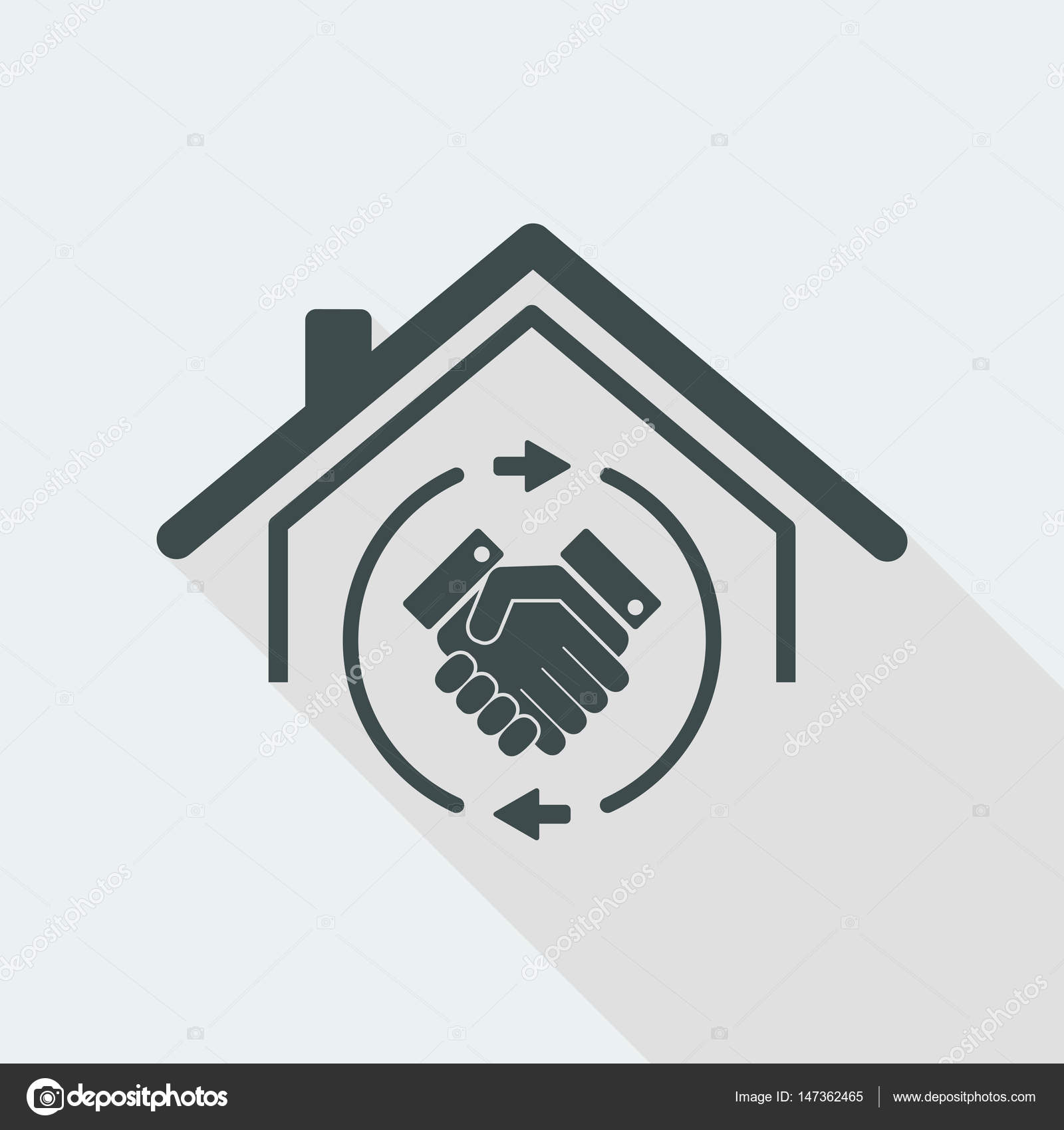 House Mutual Agreement Icon Stock Vector Myvector 147362465