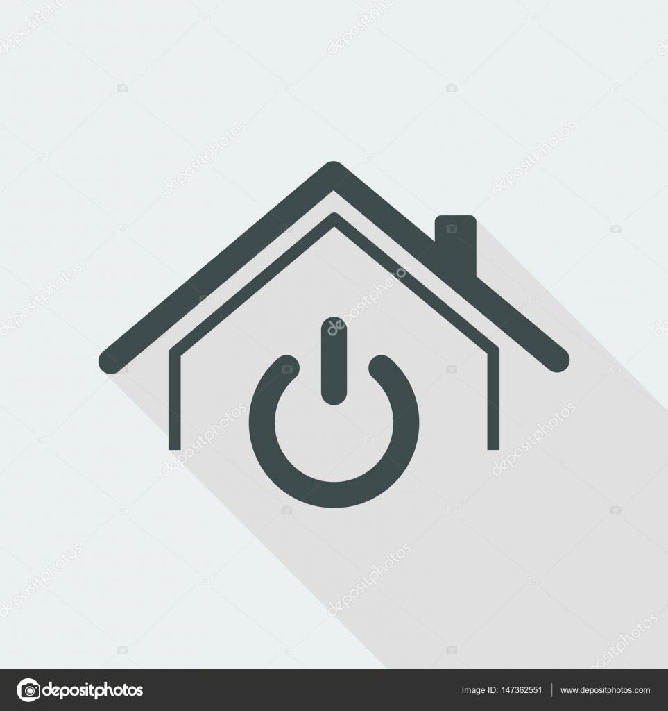 Haus-Power-Schalter-Symbol — Stockvektor © MyVector #147362551