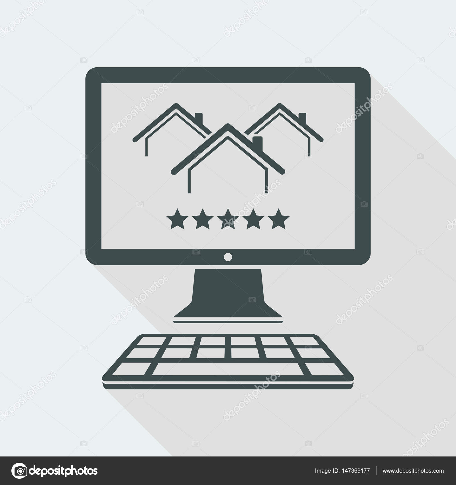 Best luxury home rating icon — Stock Vector © MyVector #147369177