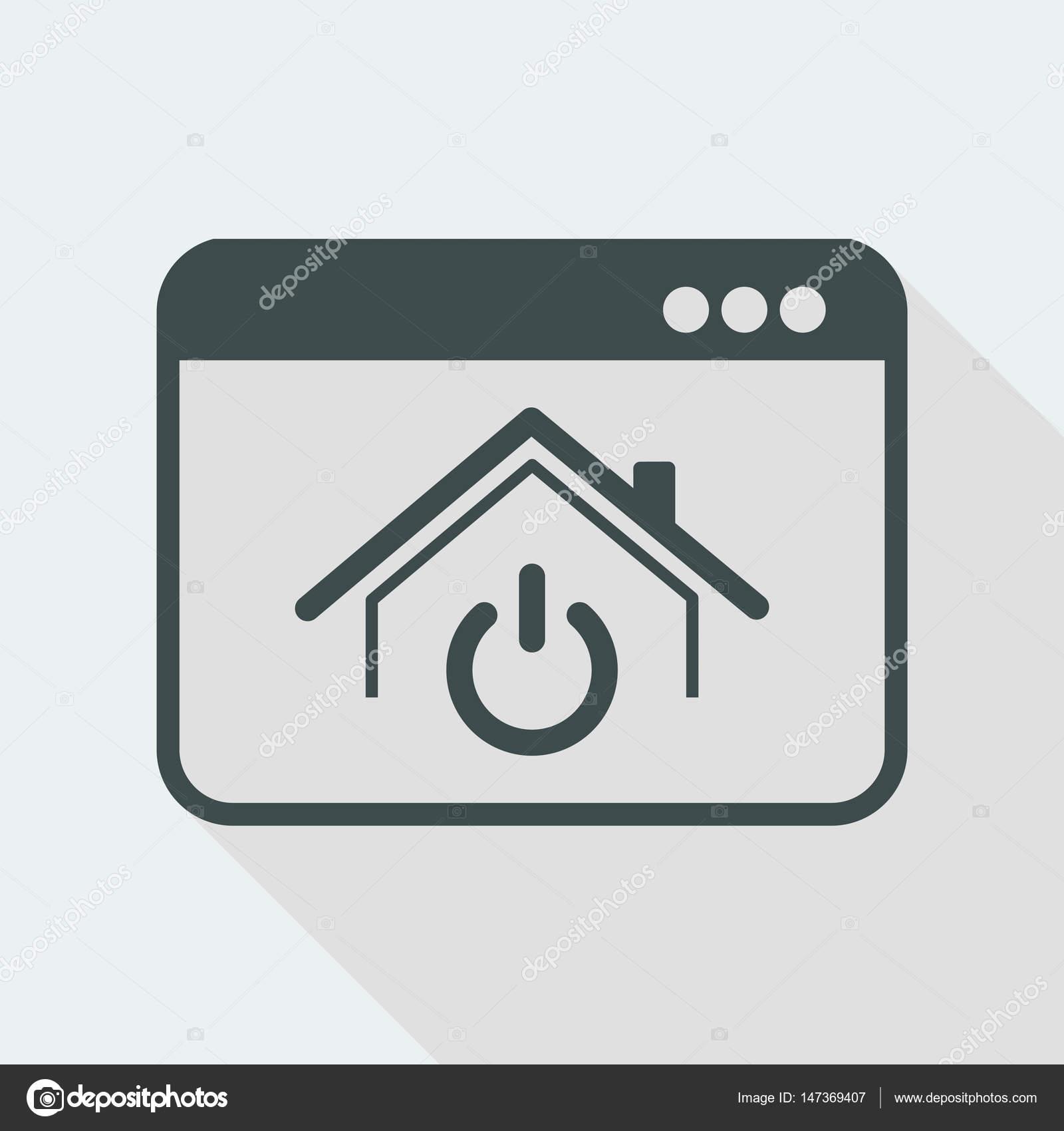 Haus-Power-Schalter-Symbol — Stockvektor © MyVector #147369407