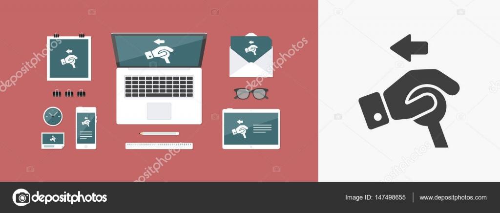 Control handle icon — Stock Vector © MyVector #147498655
