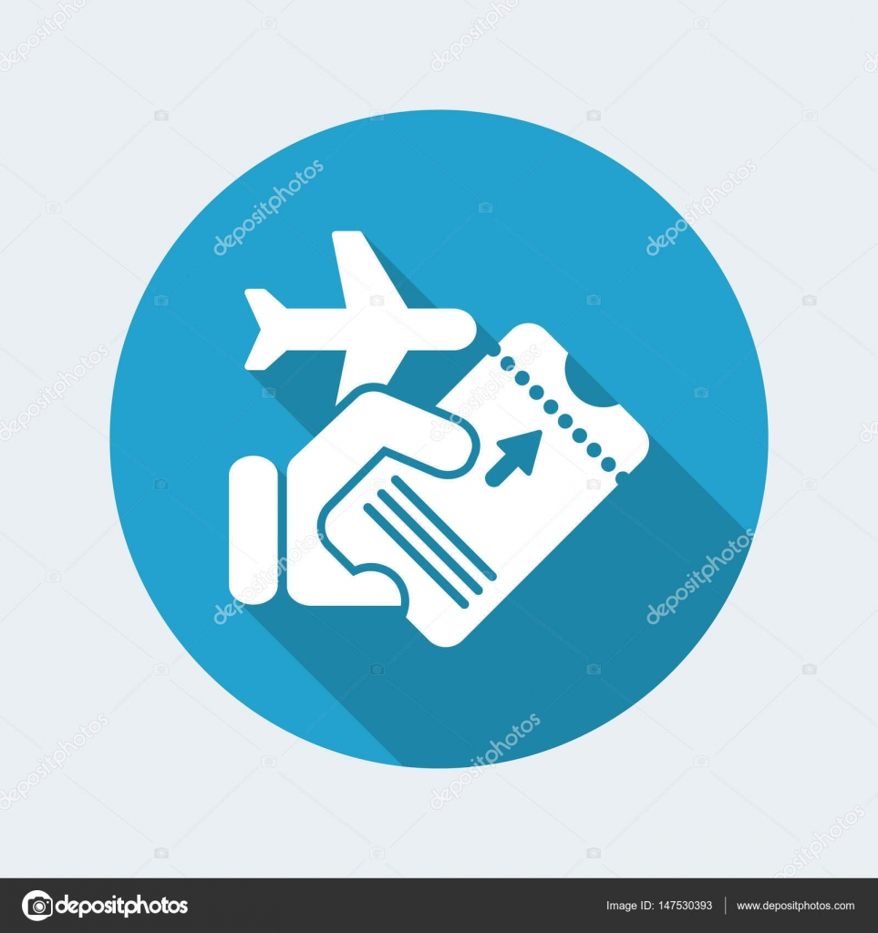 Airline Ticket Icon Stock Vector
