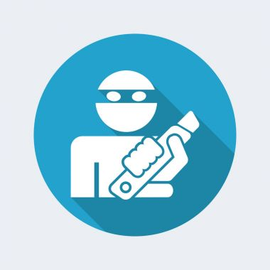 Rapine icon illustration