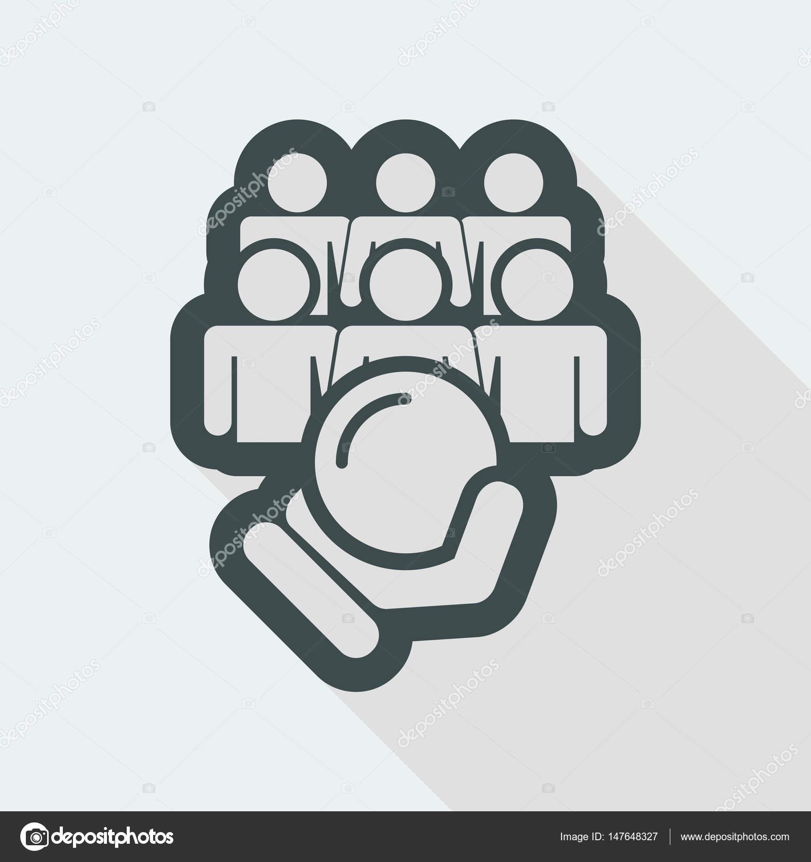 Human strike icon — Stock Vector © MyVector #147648327