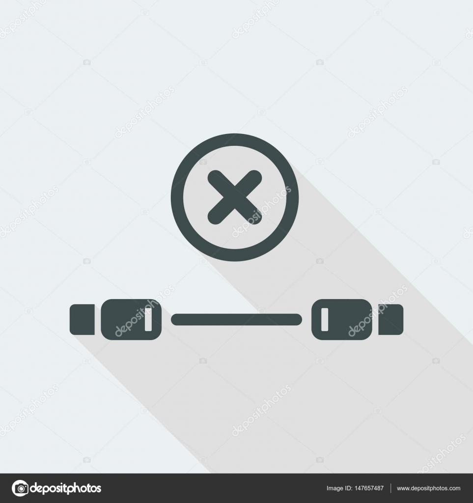 USB-Kabel Fehlersymbol — Stockvektor © MyVector #147657487