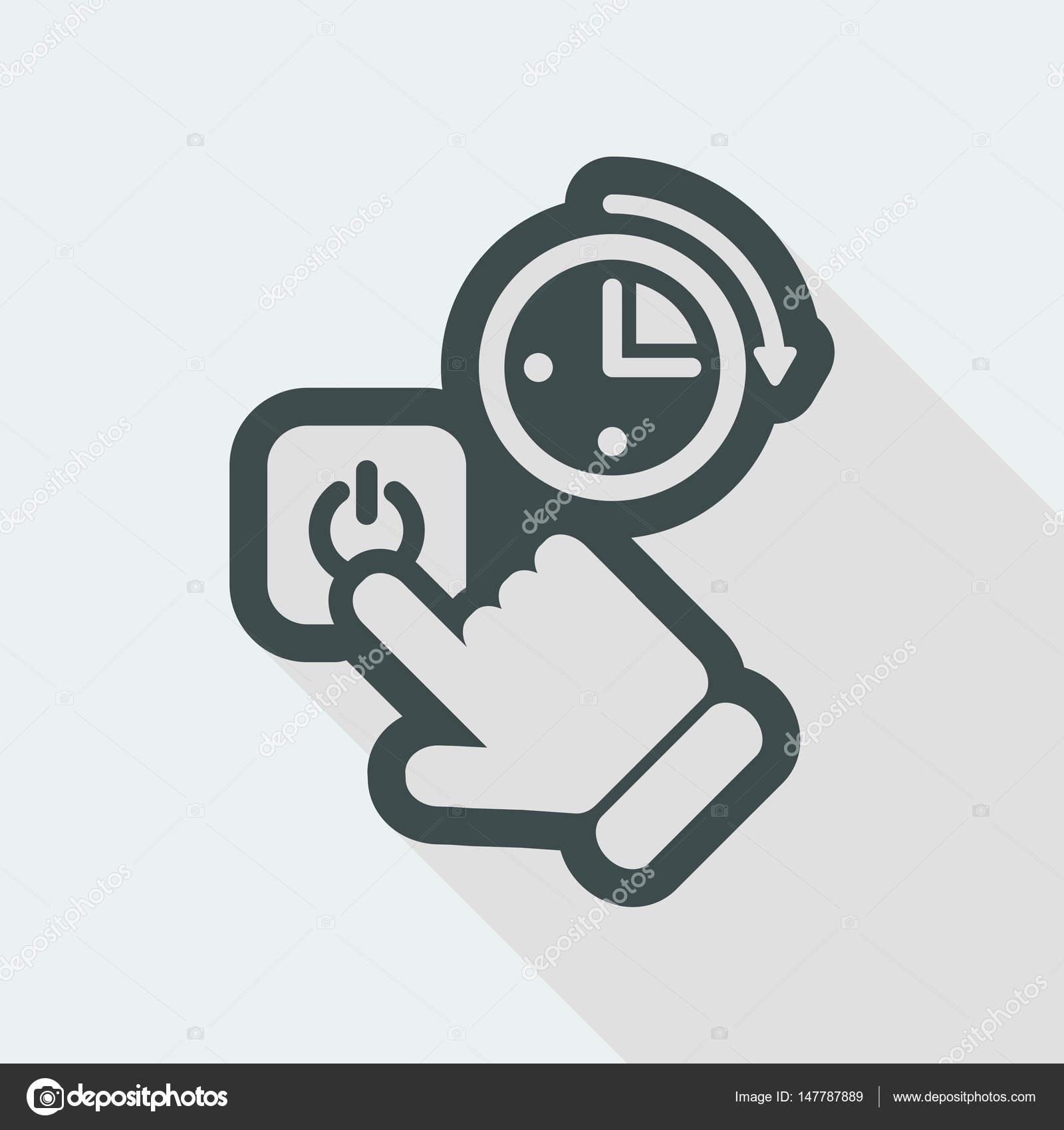 Schalter-Timer-Symbol — Stockvektor © MyVector #147787889