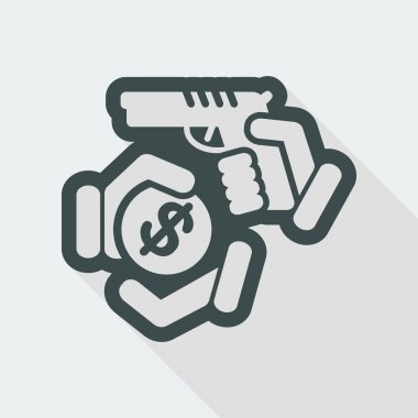 Armed robbery icon
