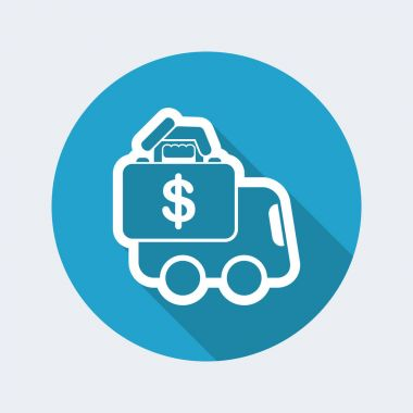 Money van transfer icon