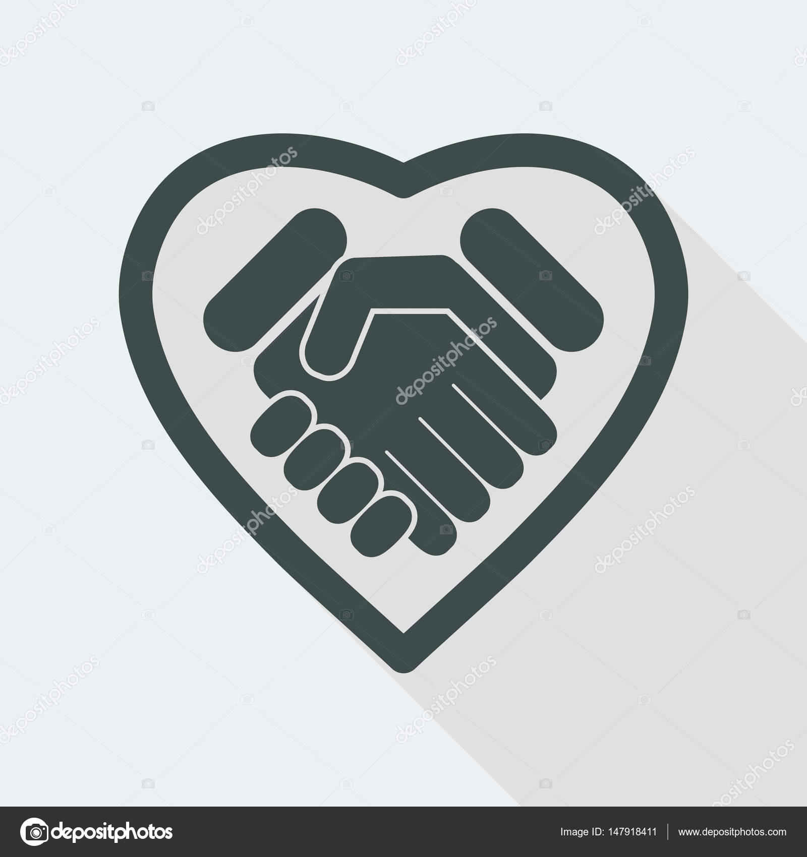 No to racism poster discrimination symbol handshake icon vector love handshake icon biocorpaavc Images