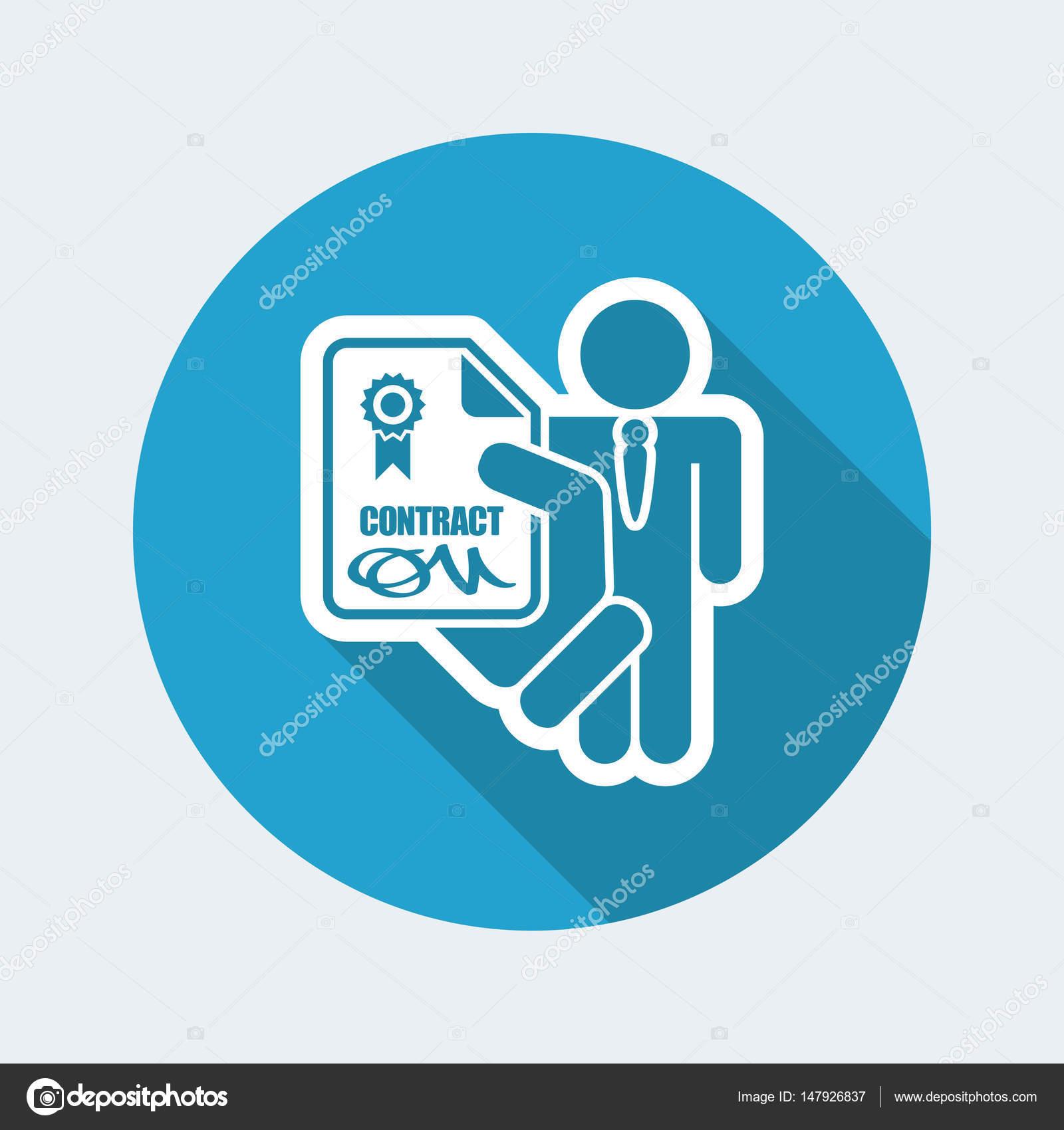 employment contract icon stock vector myvector 147926837