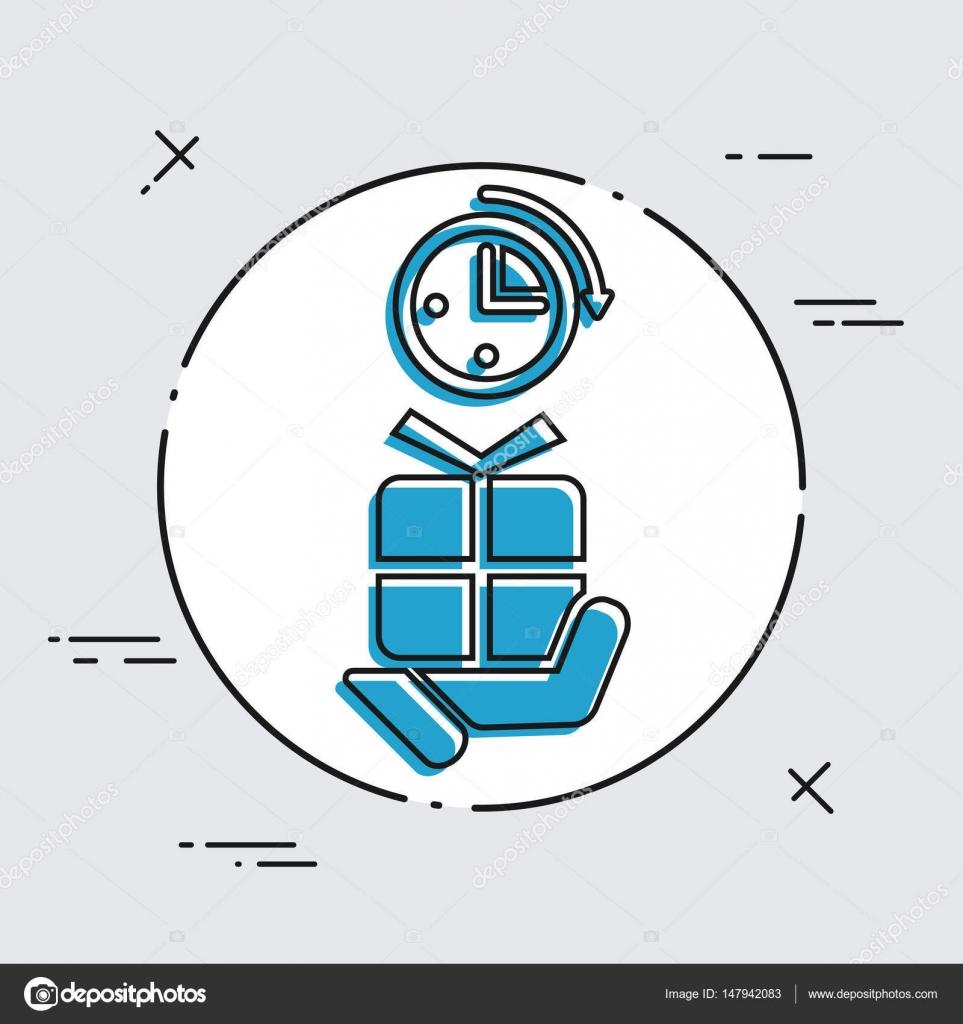 icône de cadeau de dernière minute — image vectorielle myvector