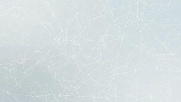 Abstraktní futuristické pozadí, spojené body a linie v pohybu. 4K.