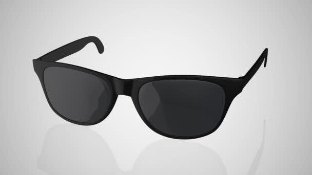 Černé letní sluneční brýle. 3D vykreslování 4K.