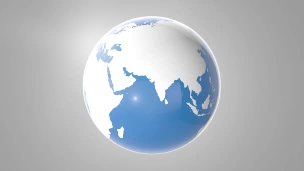 Blu Earth Globus rotierend, Endlosschleife, Loopable-Szene. 4k.