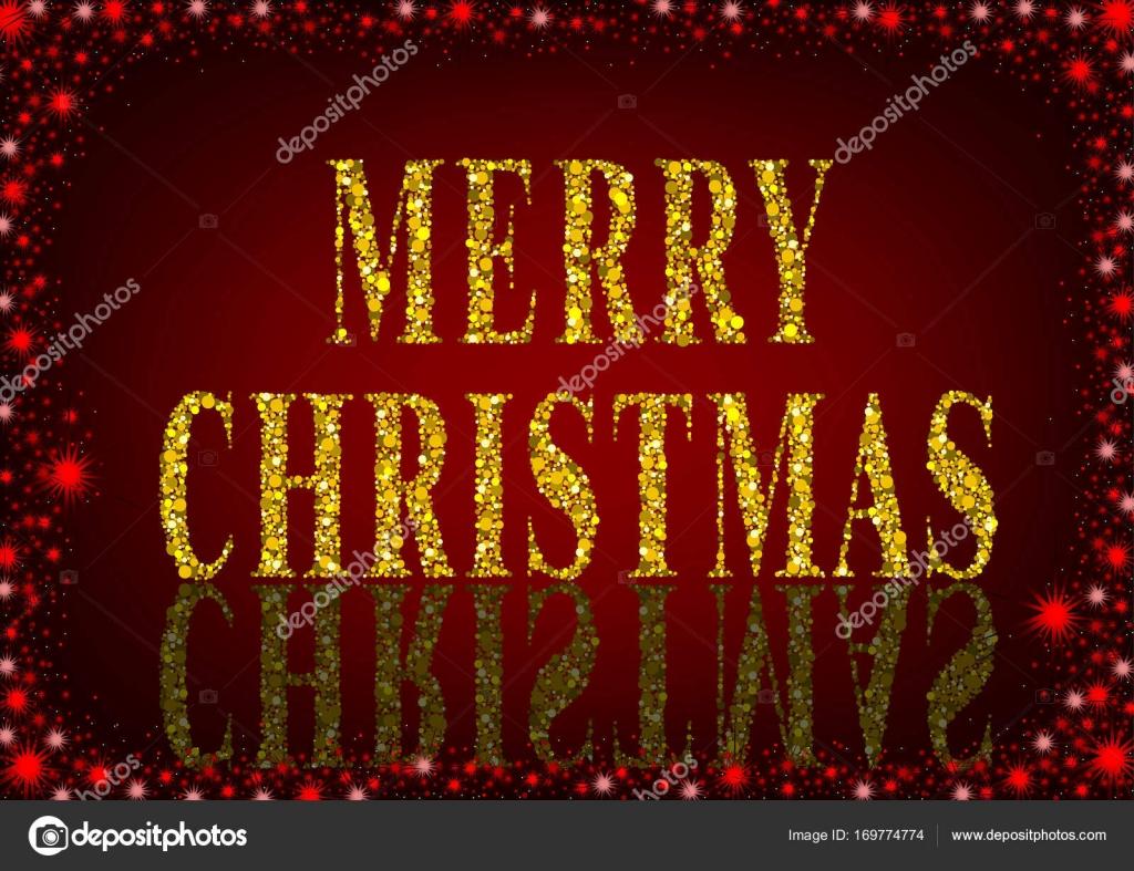 Buon Natale Zecchino Doro Testo.Auguri Di Buon Natale Rosso Vettoriali Stock C Dero2010 169774774