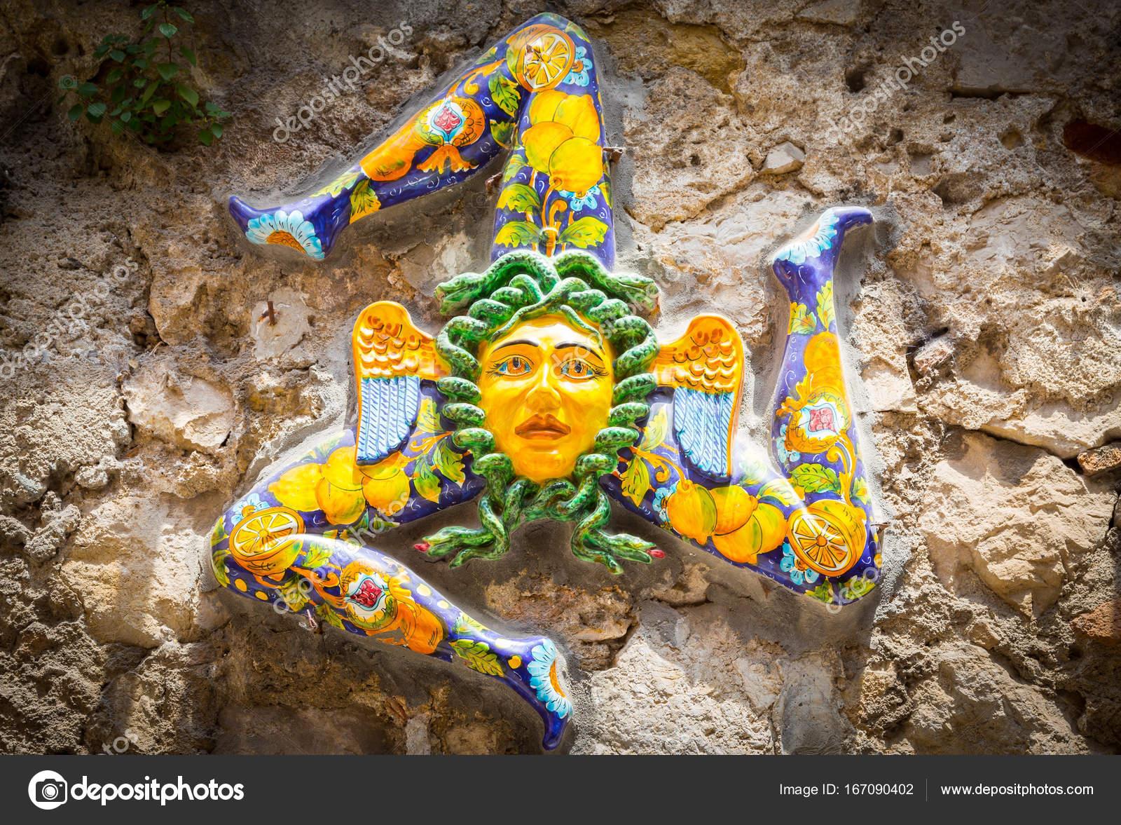 The Three Legged Symbol Of Sicily Trinacria Stock Photo