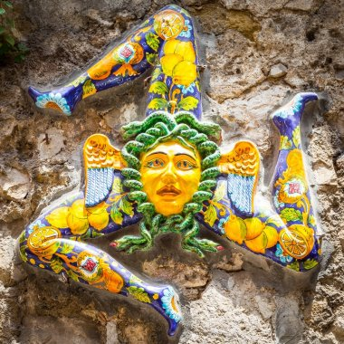 The three-legged symbol of Sicily: Trinacria
