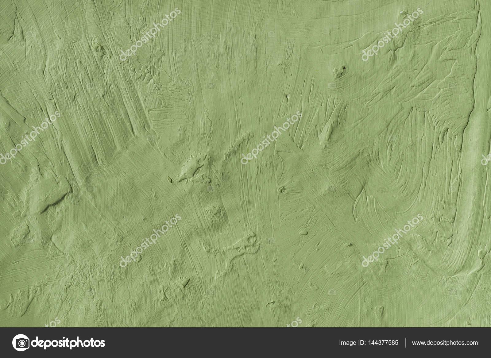 Resistido el fondo superficie rugosa pared enlucida de pintado verde ...