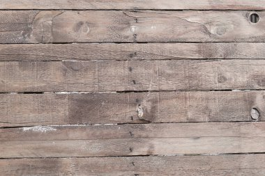Old weathered wooden plank wall background. Detailed texture