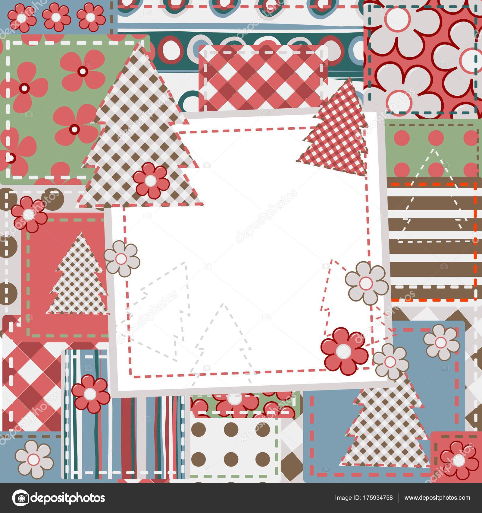Vintage Scrapbook-Hintergrund für Weihnachten — Stockvektor ...