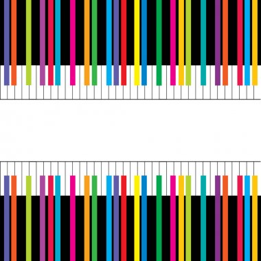Abstract musical poster with piano keys