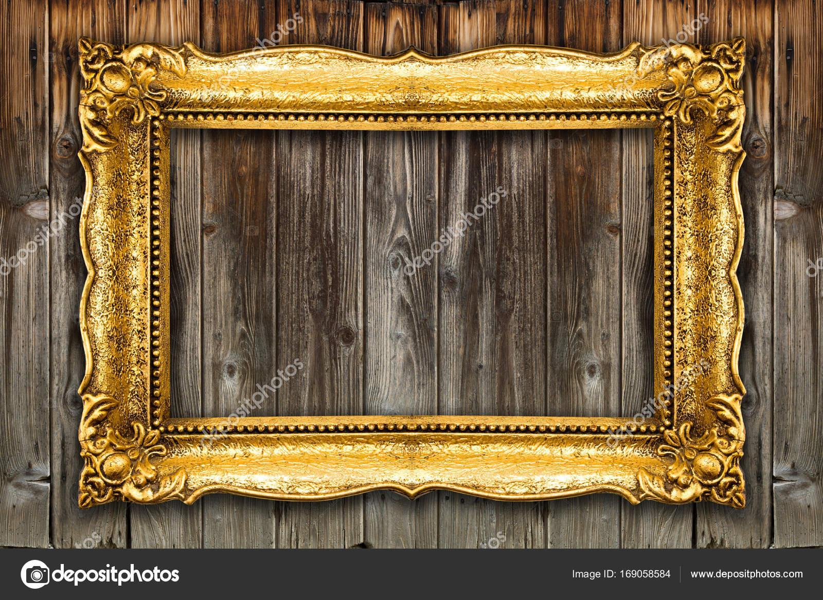 Großer Retro-Altgold-Bilderrahmen — Stockfoto © adam_r #169058584