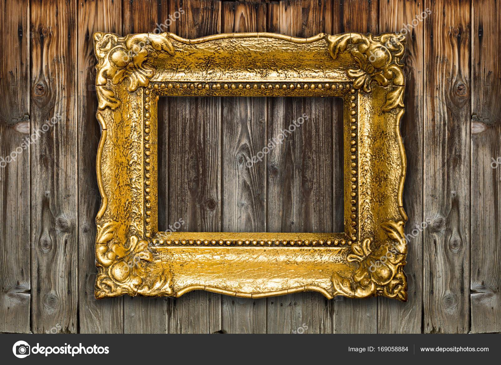 Alte große Retro Gold Bilderrahmen — Stockfoto © adam_r #169058884