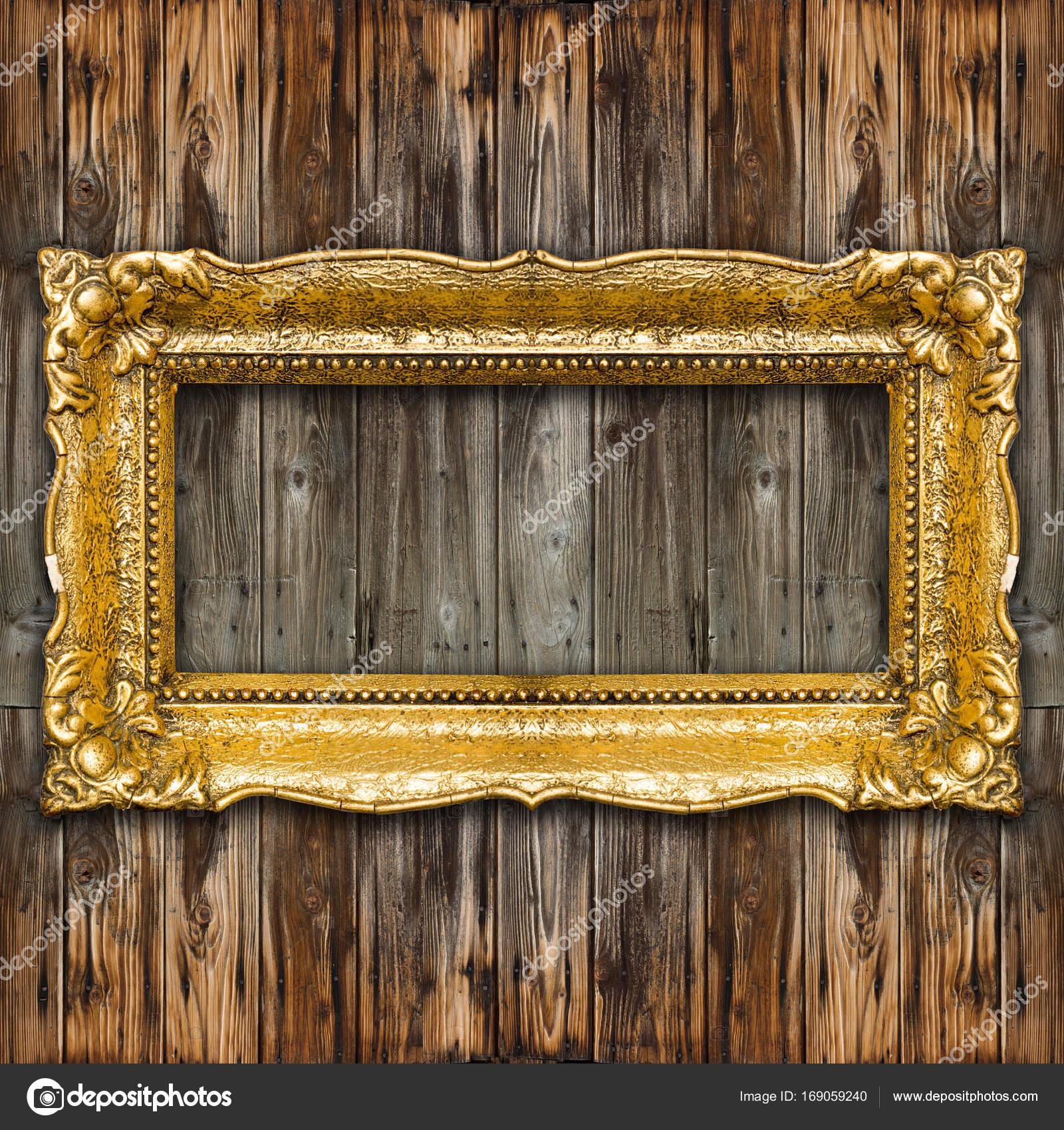 Großer Retro-Altgold-Bilderrahmen — Stockfoto © adam_r #169059240