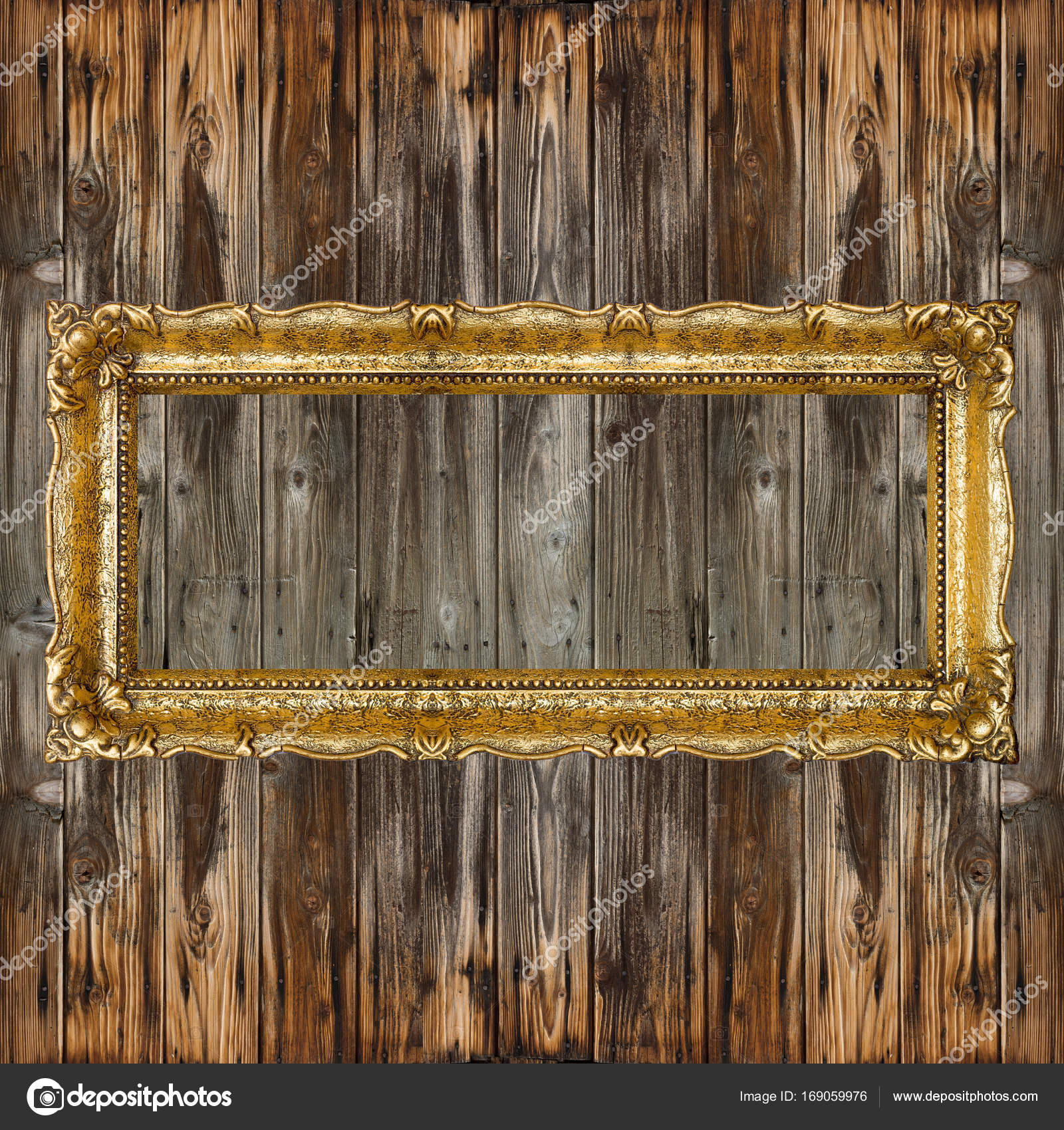 Großer Retro-Altgold-Bilderrahmen — Stockfoto © adam_r #169059976