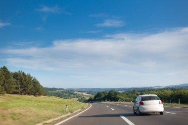 Car on Highway in Serbia, Europe