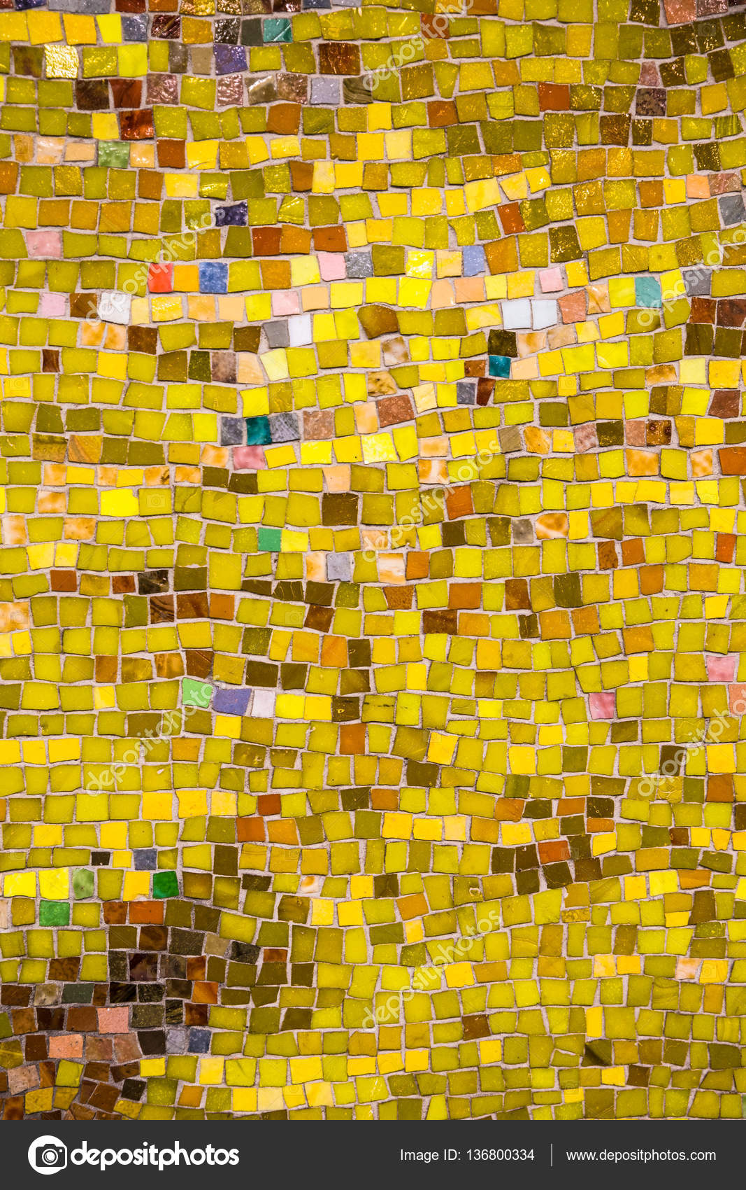 Yellow Mosaic tile — Stock Photo © littleny #136800334