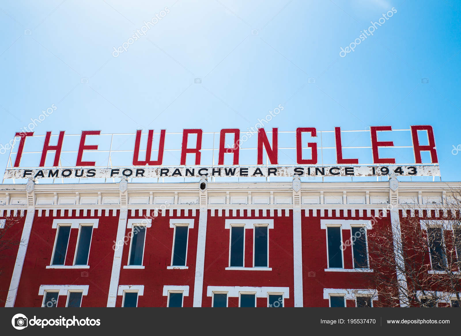 65dbf1d45249 Cheyenne Wyoming Dubna 2018 Pohled Wrangler Historickém Centru Města  Cheyenne — Stock fotografie