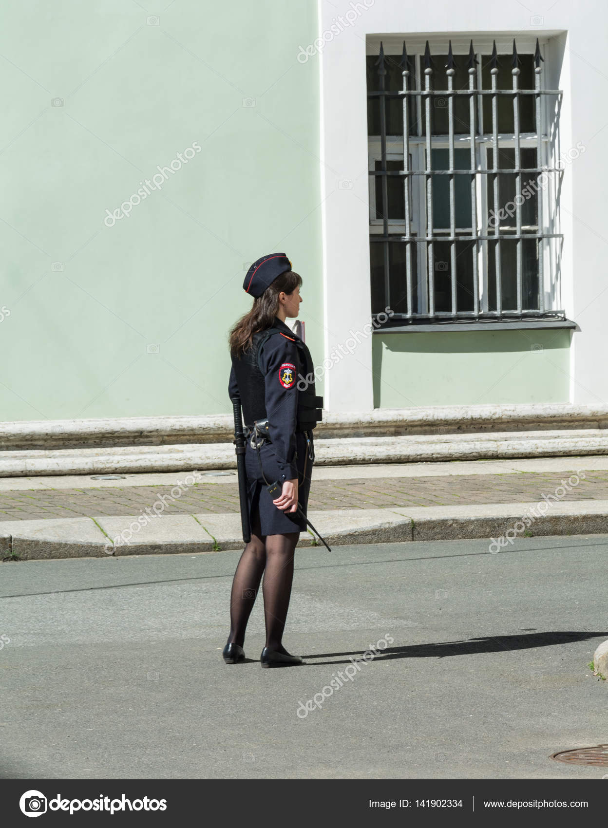 Russian girl police outfit all