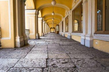 Open gallery of the second floor of Gostiny Dvor, St. Petersburg