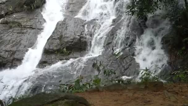 Closeup of beautiful waterfall