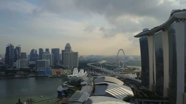 Aerial shot of Marina Bay Sands