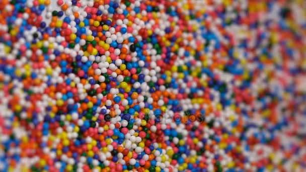 Barevné sypání cukru pozadí