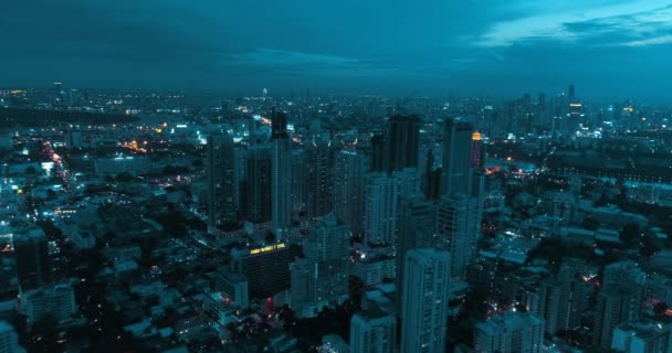 Modern city during beautiful cloudy night