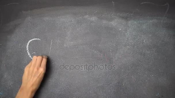 Ruční psaní Zelené na černé tabuli