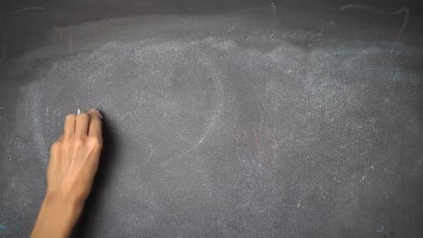 Hand writing INSURANCE on black chalkboard