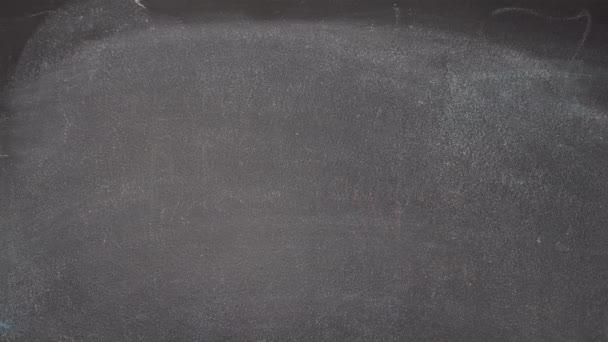 Ruční psaní Být šťastný na černé tabuli